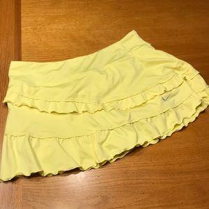 Yellow Nike tennis skirt, M, ruffles